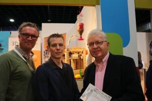 Louis Smits (rechts), Martijn Sulsters (midden), Ronald Scheer (links).