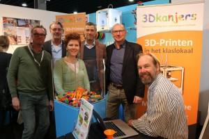 Van rechts naar links: Martijn de Winter, Jos Kok, Remco Liefting, Marcella van den Burg, ..., en Ronald Scheer
