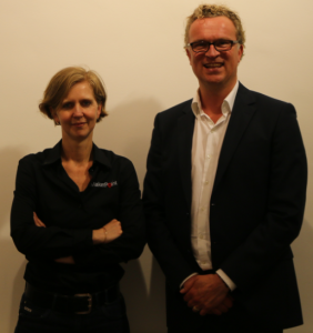 Esther Smit en Ronald scheer in makerpoint Arnhem