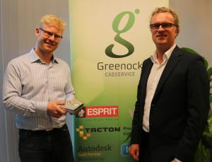 Arjan Dijk en Ronald Scheer bij Greenock Cad Services.
