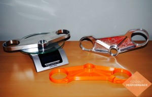 Van 3d print prototype in oranje PLA, naar een volwaardig aluminium onderdeel.