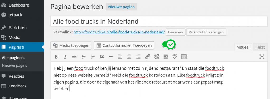 Wordpress ContactFormulier Toevoegen