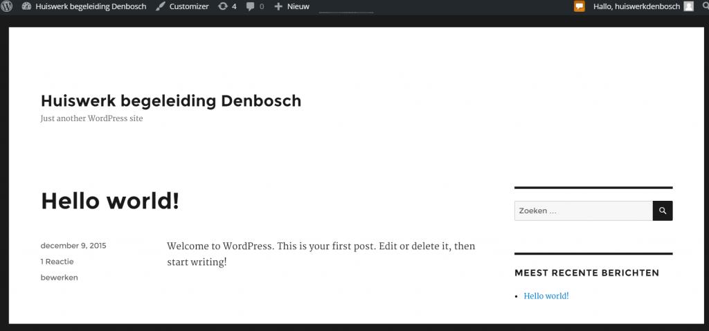 Standaard WordPress web layout