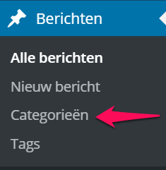 Categorie Toevoegen via Dashboard