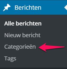 Categorie Toevoegen via Dashboard