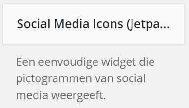Social Media Icons Installeren
