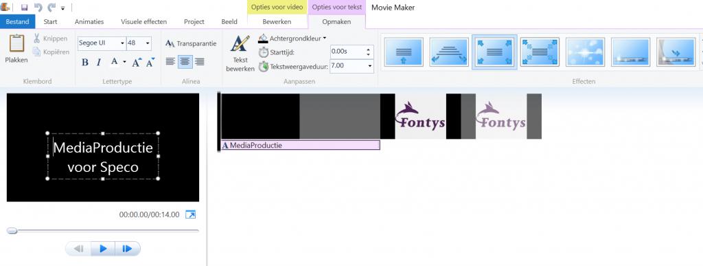 Naam geven film in MovieMaker